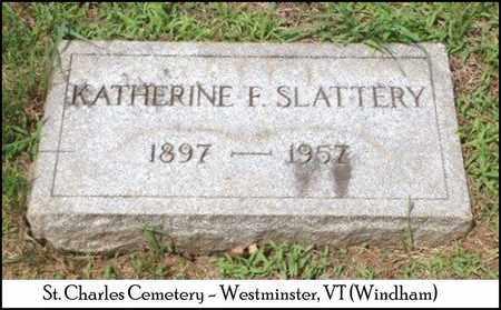 SLATTERY, KATHERINE FRANCIS - Windham County, Vermont | KATHERINE FRANCIS SLATTERY - Vermont Gravestone Photos