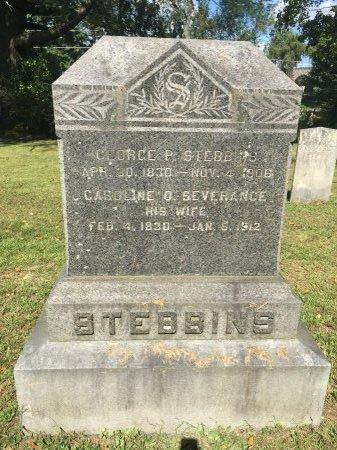 SEVERENCE STEBBINS, CAROLINE OLIVE - Windham County, Vermont   CAROLINE OLIVE SEVERENCE STEBBINS - Vermont Gravestone Photos