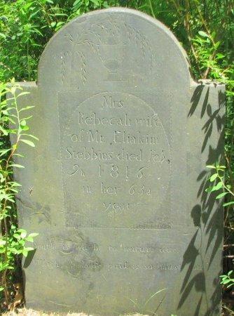 STEBBINS, REBECCA - Windham County, Vermont | REBECCA STEBBINS - Vermont Gravestone Photos