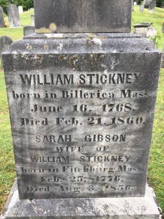 "GIBSON STICKNEY, SARAH ""SALLY""  - Windham County, Vermont | SARAH ""SALLY""  GIBSON STICKNEY - Vermont Gravestone Photos"