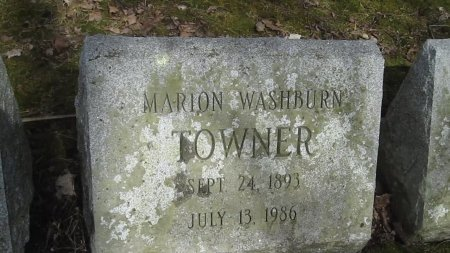 WASHBURN TOWNER, MARION - Windham County, Vermont | MARION WASHBURN TOWNER - Vermont Gravestone Photos