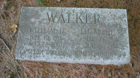 WALKER, ELIZABETH JANE - Windham County, Vermont | ELIZABETH JANE WALKER - Vermont Gravestone Photos