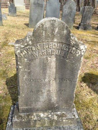 WASHBURN, OWEN REDINGTON - Windham County, Vermont   OWEN REDINGTON WASHBURN - Vermont Gravestone Photos