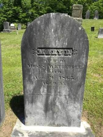 WETHERBEE, MARY D. - Windham County, Vermont | MARY D. WETHERBEE - Vermont Gravestone Photos