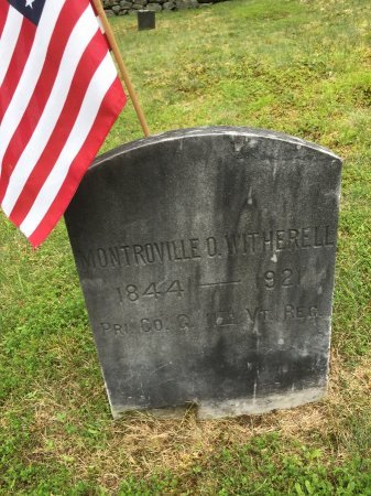 WITHERELL, MONTROVILLE OSCAR - Windham County, Vermont | MONTROVILLE OSCAR WITHERELL - Vermont Gravestone Photos