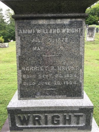 WRIGHT, AMMI WILLARD - Windham County, Vermont   AMMI WILLARD WRIGHT - Vermont Gravestone Photos