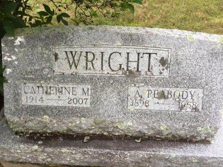 WRIGHT, ARTHUR PEABODY - Windham County, Vermont   ARTHUR PEABODY WRIGHT - Vermont Gravestone Photos