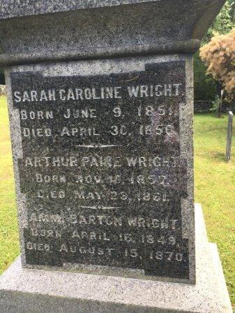 "WRIGHT, SARAH CAROLINE ""CARRIE"" - Windham County, Vermont | SARAH CAROLINE ""CARRIE"" WRIGHT - Vermont Gravestone Photos"