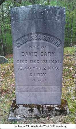 CARY, CLARISSA - Windsor County, Vermont   CLARISSA CARY - Vermont Gravestone Photos