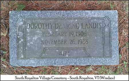 DEARING LANDIS, DOROTHY MAY - Windsor County, Vermont | DOROTHY MAY DEARING LANDIS - Vermont Gravestone Photos