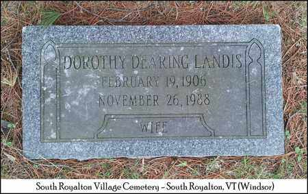 LANDIS, DOROTHY MAY - Windsor County, Vermont | DOROTHY MAY LANDIS - Vermont Gravestone Photos