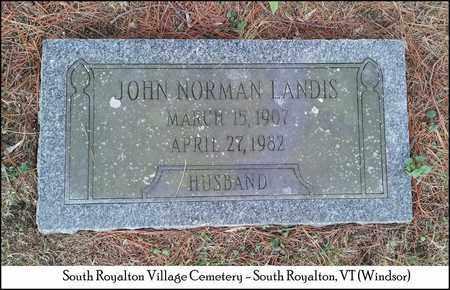 LANDIS, JOHN NORMAN - Windsor County, Vermont | JOHN NORMAN LANDIS - Vermont Gravestone Photos