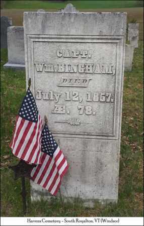 BINGHAM, CAPT. WILLIAM - Windsor County, Vermont | CAPT. WILLIAM BINGHAM - Vermont Gravestone Photos