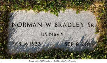 BRADLEY, NORMAN W. SR. - Windsor County, Vermont | NORMAN W. SR. BRADLEY - Vermont Gravestone Photos