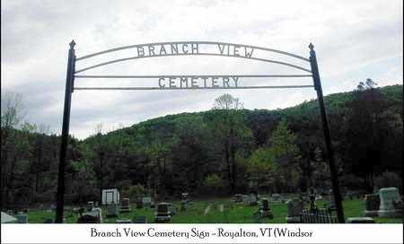 CEMETERY SIGN, VIEW - Windsor County, Vermont | VIEW CEMETERY SIGN - Vermont Gravestone Photos