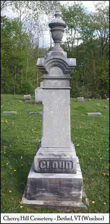 CLOUD, ADNAH BALCH - Windsor County, Vermont | ADNAH BALCH CLOUD - Vermont Gravestone Photos
