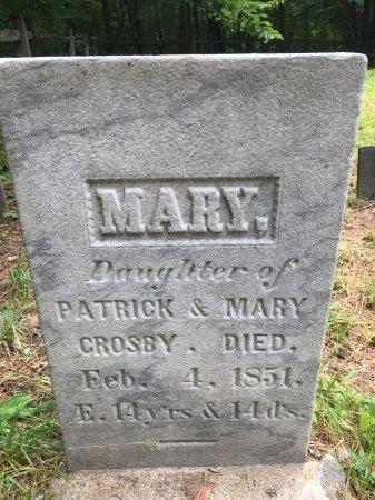 CROSBY, MARY - Windsor County, Vermont | MARY CROSBY - Vermont Gravestone Photos