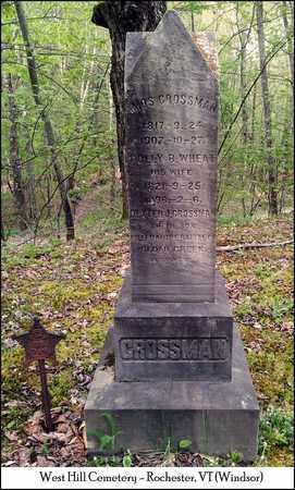 WHEAT CROSSMAN, POLLLY F. - Windsor County, Vermont   POLLLY F. WHEAT CROSSMAN - Vermont Gravestone Photos
