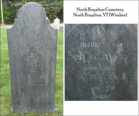 DAY (VERTERAN RW), BENJAMIN - Windsor County, Vermont | BENJAMIN DAY (VERTERAN RW) - Vermont Gravestone Photos