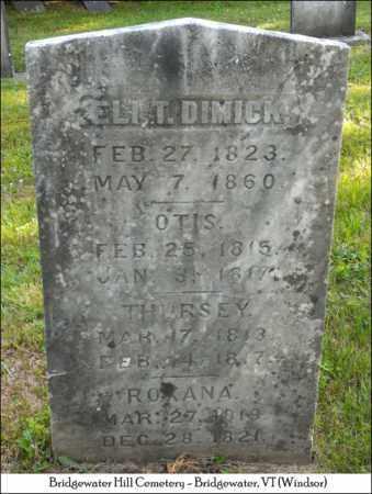 DIMICK, OTIS - Windsor County, Vermont   OTIS DIMICK - Vermont Gravestone Photos