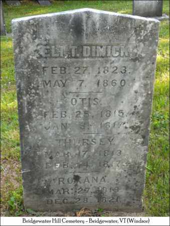 DIMICK, THURSEY - Windsor County, Vermont | THURSEY DIMICK - Vermont Gravestone Photos