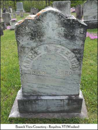 BROCK FRENCH, ABIGAIL D. (ABBIE) - Windsor County, Vermont | ABIGAIL D. (ABBIE) BROCK FRENCH - Vermont Gravestone Photos