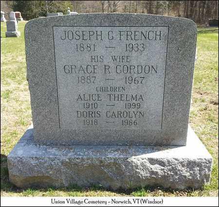 FRENCH, JOSEPH G. - Windsor County, Vermont   JOSEPH G. FRENCH - Vermont Gravestone Photos