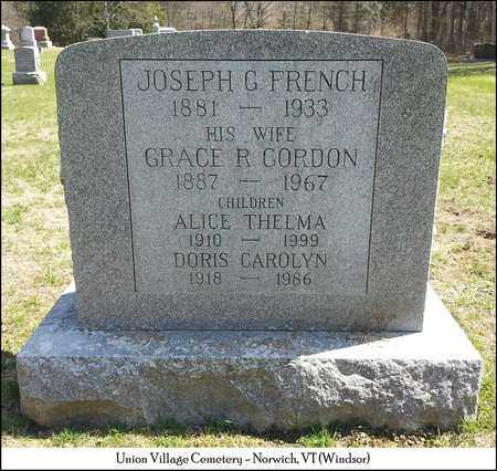 GORDON FRENCH, GRACE R. - Windsor County, Vermont | GRACE R. GORDON FRENCH - Vermont Gravestone Photos