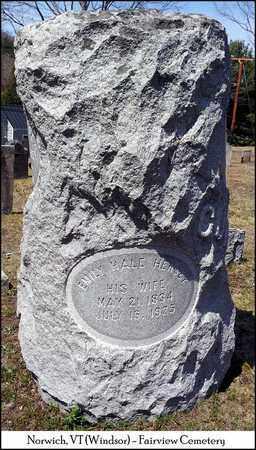 HALE HERSEY, EMILY - Windsor County, Vermont | EMILY HALE HERSEY - Vermont Gravestone Photos