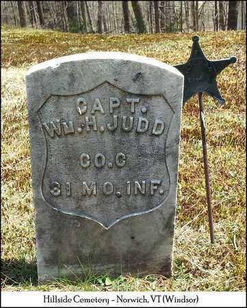 JUDD (VETERAN UNION), WILLIAM HENRY - Windsor County, Vermont | WILLIAM HENRY JUDD (VETERAN UNION) - Vermont Gravestone Photos