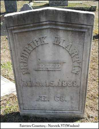 MARTIN, FREDERICK - Windsor County, Vermont | FREDERICK MARTIN - Vermont Gravestone Photos