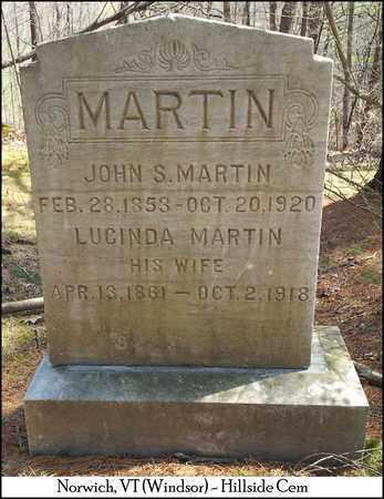 MARTIN, MARY LUCINDA - Windsor County, Vermont | MARY LUCINDA MARTIN - Vermont Gravestone Photos