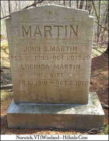 MARTIN, MARY LUCINDA - Windsor County, Vermont | MARY LUCINDA MARTIN - Vermont Gravestone Photos