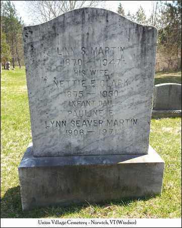 CLARK MARTIN, NETTIE E. - Windsor County, Vermont | NETTIE E. CLARK MARTIN - Vermont Gravestone Photos
