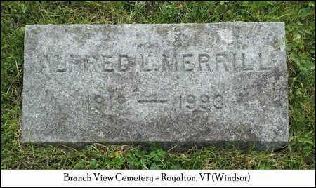 MERRILL, ALFRED L. - Windsor County, Vermont | ALFRED L. MERRILL - Vermont Gravestone Photos