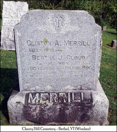 MERRILL, BERTHA J. - Windsor County, Vermont | BERTHA J. MERRILL - Vermont Gravestone Photos