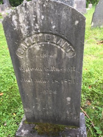 """RUSSELL, SARAH M. """"SALLY"""" - Windsor County, Vermont 
