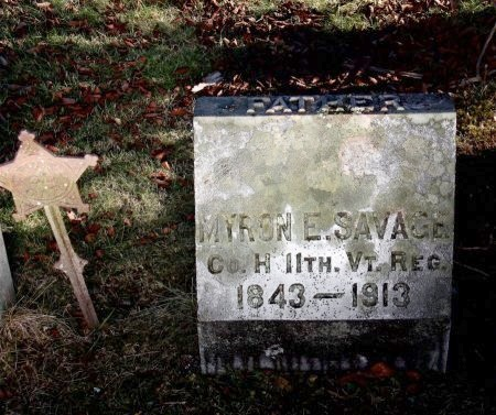 SAVAGE, MYRON - Windsor County, Vermont   MYRON SAVAGE - Vermont Gravestone Photos