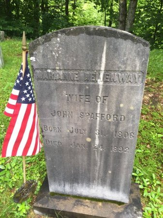 HEMENWAY SPAFFORD, MARIANNE  - Windsor County, Vermont   MARIANNE  HEMENWAY SPAFFORD - Vermont Gravestone Photos