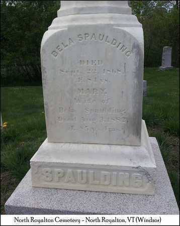 SPAULDING, WILLIAM BELA - Windsor County, Vermont | WILLIAM BELA SPAULDING - Vermont Gravestone Photos