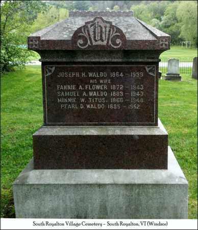 WALDO, JOSEPH H. - Windsor County, Vermont | JOSEPH H. WALDO - Vermont Gravestone Photos