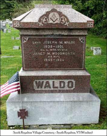 WALDO, LIEUT. JOSEPH W. - Windsor County, Vermont | LIEUT. JOSEPH W. WALDO - Vermont Gravestone Photos