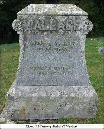 WALLACE, ALBERT E. - Windsor County, Vermont   ALBERT E. WALLACE - Vermont Gravestone Photos