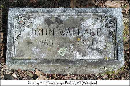 WALLACE, JOHN - Windsor County, Vermont | JOHN WALLACE - Vermont Gravestone Photos