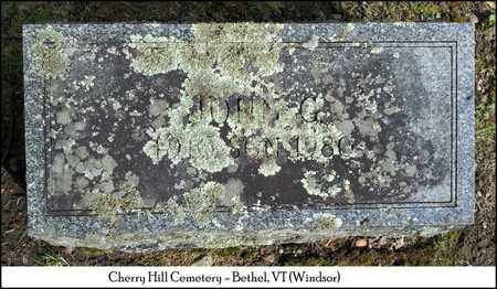 WALLACE, JOHN G. - Windsor County, Vermont | JOHN G. WALLACE - Vermont Gravestone Photos