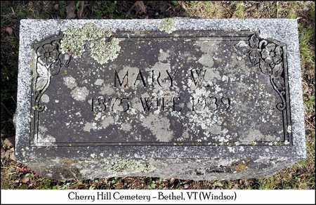 WALLACE, MARY W. - Windsor County, Vermont | MARY W. WALLACE - Vermont Gravestone Photos