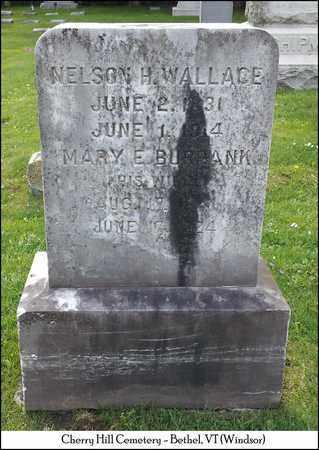 BURBANK WALLACE, MARY E. - Windsor County, Vermont   MARY E. BURBANK WALLACE - Vermont Gravestone Photos