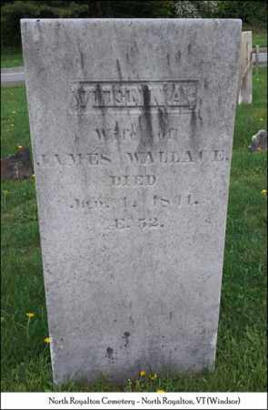 WALLACE, VIENNA - Windsor County, Vermont   VIENNA WALLACE - Vermont Gravestone Photos