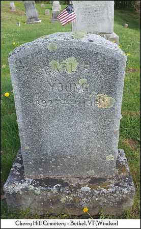 YOUNG, CARL F. - Windsor County, Vermont | CARL F. YOUNG - Vermont Gravestone Photos