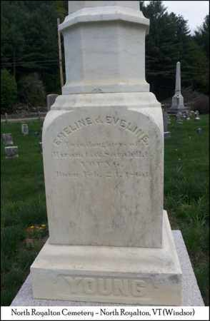YOUNG, EVELINE - Windsor County, Vermont | EVELINE YOUNG - Vermont Gravestone Photos